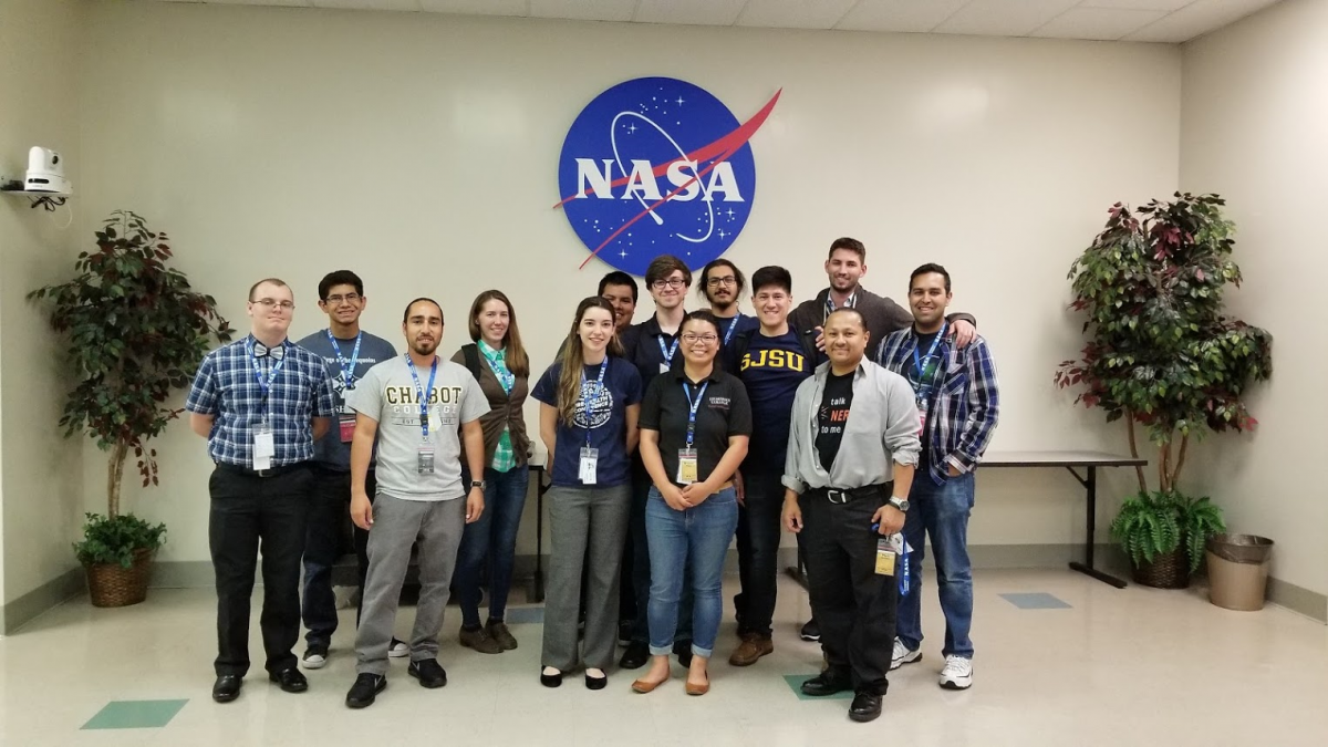 Matt Rockwell with NASA Interns at Ames